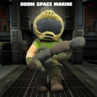 Gaming Heads Doom: Space Marine Peluş