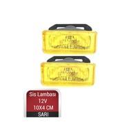 Carub Sis Lambası 10Cmx4Cm Dikdörtgen Sarı Takım 3009519
