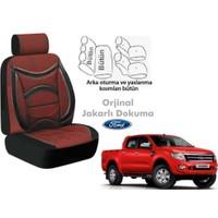 Süslenoto Ford Ranger Pick-Up Çift Kabin 2009 Ve Sonrası Bordo Oto Koltuk Kılıfı Ortopedik