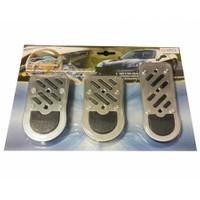 Süslenoto Pedal Seti Siyah Alüminyum Üstü Silikon Desenli