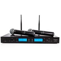 Doppler Dm502H Çiftli El Tipi Telsiz Mikrofon