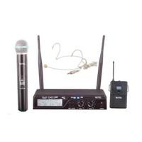 Notel Not 800Ey Telsiz Mikrofon Kablosuz Uhf 2X100 Kanal El+Yaka+Headset