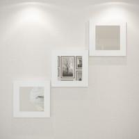 Eyibil Mobilya 3'Lü Modern Duvar Aynası 30-30 cm