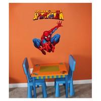 Örümcek Adam Fosforlu Sticker 48x68 cm