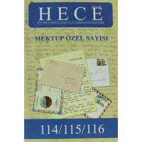 Hece Aylık Edebiyat Dergisi Mektup Özel Sayı Sayı: 12 - 114 / 115 / 116