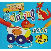 Coloring Book 96 Pages (Blue)