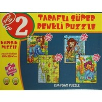 Karışık 4'ü Bir Kutuda Puzzle