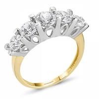 Sembolgold Altın 5 Taş Yüzük Sg42-783403