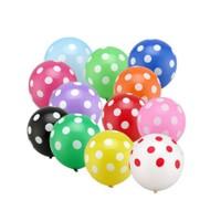Puantiyeli Karışık Renkli Parti Balonu - 100 Adet