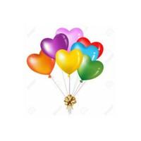 Kalp Şekilli Renkli Balon - 100 Adet
