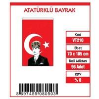 Vatan Bayrak Vatan 70X105 Atalı Bayrak Vt210