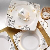 Kütahya Porselen Aliza Bone 12 Kişilik 83 Parça 25104 Desenli Yemek Takımı