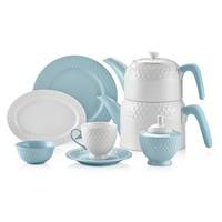 Schafer Eden Collection 34 Parça Kahvaltı Takımı Mavi SHF28741