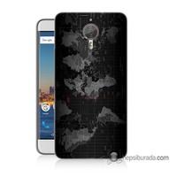 Teknomeg General Mobile Gm5 Plus Kapak Kılıf Harita Baskılı Silikon