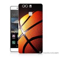 Teknomeg Huawei P9 Kapak Kılıf Basketbol Baskılı Silikon
