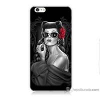 Teknomeg iPhone 6 Kapak Kılıf Gözlüklü Kız Baskılı Silikon