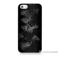 Teknomeg iPhone Se Kapak Kılıf Harita Baskılı Silikon