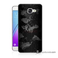 Teknomeg Samsung Galaxy A3 2016 Kapak Kılıf Harita Baskılı Silikon