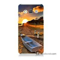 Teknomeg Samsung Galaxy A5 Kapak Kılıf Kumsal Manzara Baskılı Silikon