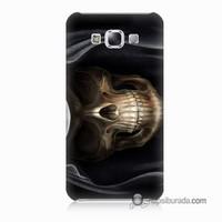Teknomeg Samsung Galaxy E5 Kapak Kılıf Kurukafa Baskılı Silikon