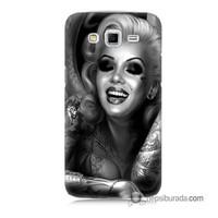 Teknomeg Samsung Galaxy Grand 2 Kapak Kılıf Marilyn Monroe Baskılı Silikon