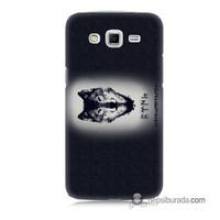 Teknomeg Samsung Galaxy Grand 2 Kapak Kılıf Kurt Baskılı Silikon