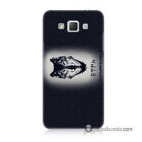 Teknomeg Samsung Galaxy Grand Max Kapak Kılıf Kurt Baskılı Silikon