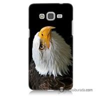 Teknomeg Samsung Galaxy Grand Prime Kapak Kılıf Eagle Baskılı Silikon