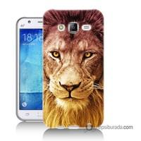 Teknomeg Samsung Galaxy J1 Kapak Kılıf Aslan Baskılı Silikon