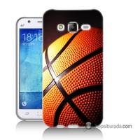 Teknomeg Samsung Galaxy J1 2016 Kapak Kılıf Basketbol Baskılı Silikon
