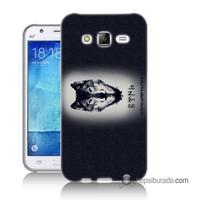 Teknomeg Samsung Galaxy J1 2016 Kapak Kılıf Kurt Baskılı Silikon