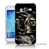 Teknomeg Samsung Galaxy J1 Kapak Kılıf Mumya Baskılı Silikon