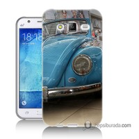 Teknomeg Samsung Galaxy J1 Kapak Kılıf Mavi Vosvos Baskılı Silikon