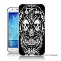 Teknomeg Samsung Galaxy J1 Ace Kapak Kılıf İskelet Baskılı Silikon