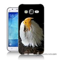 Teknomeg Samsung Galaxy J2 Kapak Kılıf Eagle Baskılı Silikon