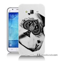 Teknomeg Samsung Galaxy J2 Kapak Kılıf İskambil Baskılı Silikon