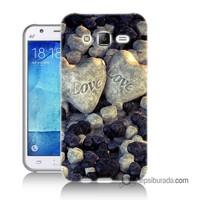 Teknomeg Samsung Galaxy J2 Kapak Kılıf Love Baskılı Silikon