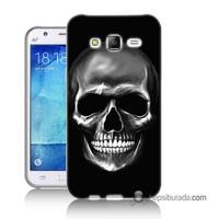 Teknomeg Samsung Galaxy J2 Kapak Kılıf Kurukafa Baskılı Silikon