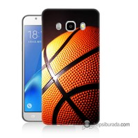 Teknomeg Samsung Galaxy J5 2016 Kapak Kılıf Basketbol Baskılı Silikon
