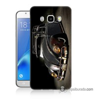 Teknomeg Samsung Galaxy J5 2016 Kapak Kılıf Vosvos Baskılı Silikon