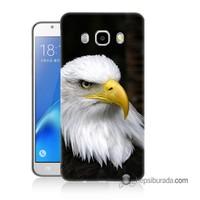 Teknomeg Samsung Galaxy J5 2016 Kapak Kılıf Siyah Kartal Baskılı Silikon