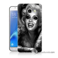 Teknomeg Samsung Galaxy J5 2016 Kapak Kılıf Marilyn Monroe Baskılı Silikon