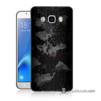Teknomeg Samsung Galaxy J5 2016 Kapak Kılıf Harita Baskılı Silikon