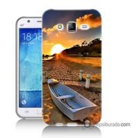 Teknomeg Samsung Galaxy J5 Kapak Kılıf Kumsal Manzara Baskılı Silikon