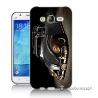 Teknomeg Samsung Galaxy J5 Kapak Kılıf Vosvos Baskılı Silikon