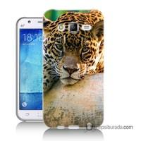 Teknomeg Samsung Galaxy J5 Kapak Kılıf Leopar Baskılı Silikon