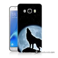 Teknomeg Samsung Galaxy J7 2016 Kapak Kılıf Bozkurt Baskılı Silikon
