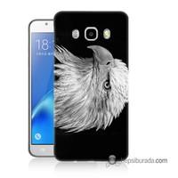 Teknomeg Samsung Galaxy J7 2016 Kapak Kılıf Kara Kartal Baskılı Silikon