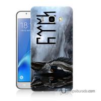 Teknomeg Samsung Galaxy J7 2016 Kapak Kılıf Türk Baskılı Silikon