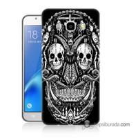 Teknomeg Samsung Galaxy J7 2016 Kapak Kılıf İskelet Baskılı Silikon